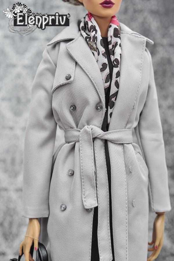 """ELENPRIV flower printed silk headscarf for 16/"""" dolls Sybarites FR:16 FR2 dolls"""