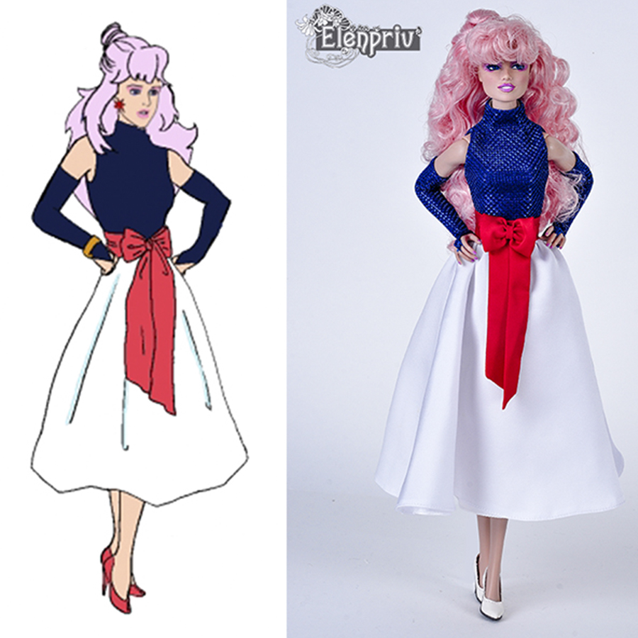 Rock And Roll Is Forever Jem S Outfit From Jem The Holograms For Color Infusion Body Dolls And Similar Size Dolls Elenpriv Doll Fashions