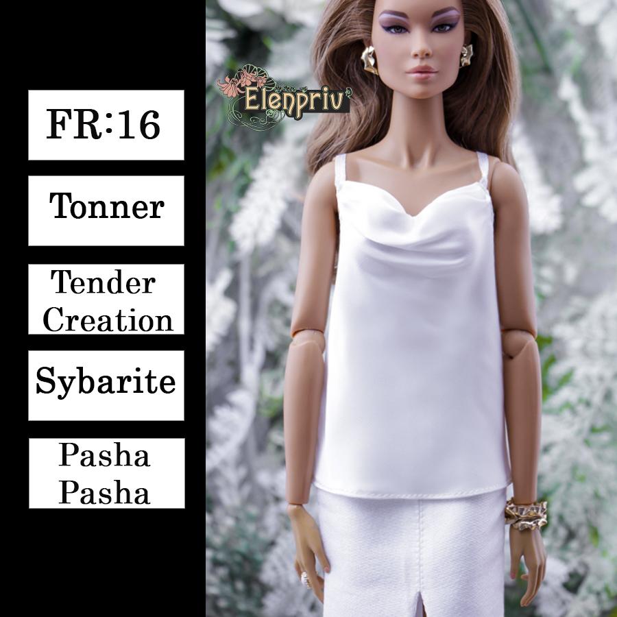 Sybarite ELENPRIV golden sequined camisole top {Choose size} Fashion royalty FR:16 Tonner Tender Creation dolls PashaPasha