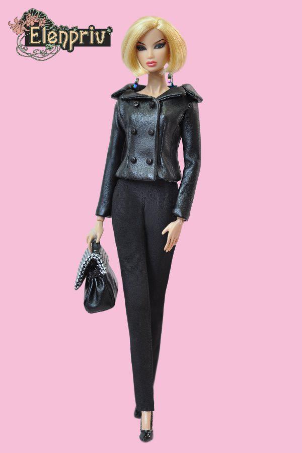 BLACK FAUX LEATHER SHORTS for  Curvy fashionista BARBIE