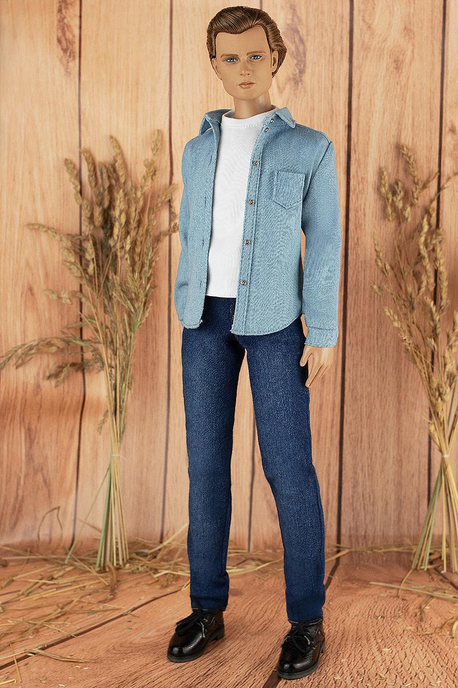 Matt O\u2019Neill Lightish Blue Denim Jeans for Tonner 17\u201d Doll